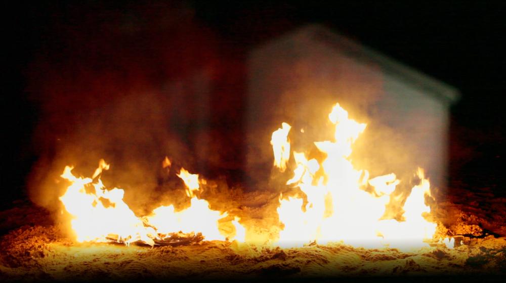 Video still from Geena Matuson's (@geenamatuson) thesis film 'My Big Bad Wolf,' 2013.