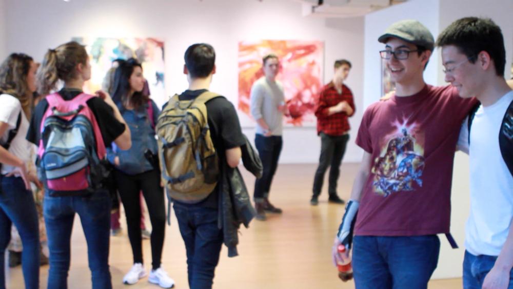 Geena Matuson's (@geenamatuson) TransFIREmation Gallery Show & Installation in the MassArt Student Life Gallery, 2013.