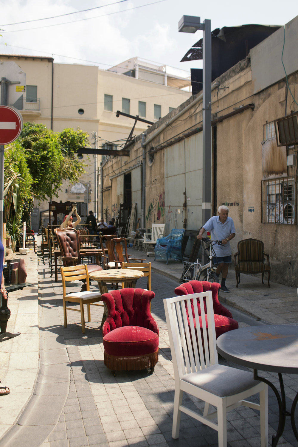"A ""chair sale"" in Tel Aviv, Israel, 2017 photography by Geena Matuson. See more #travel photography at thegirlmirage.com @geenamatuson."