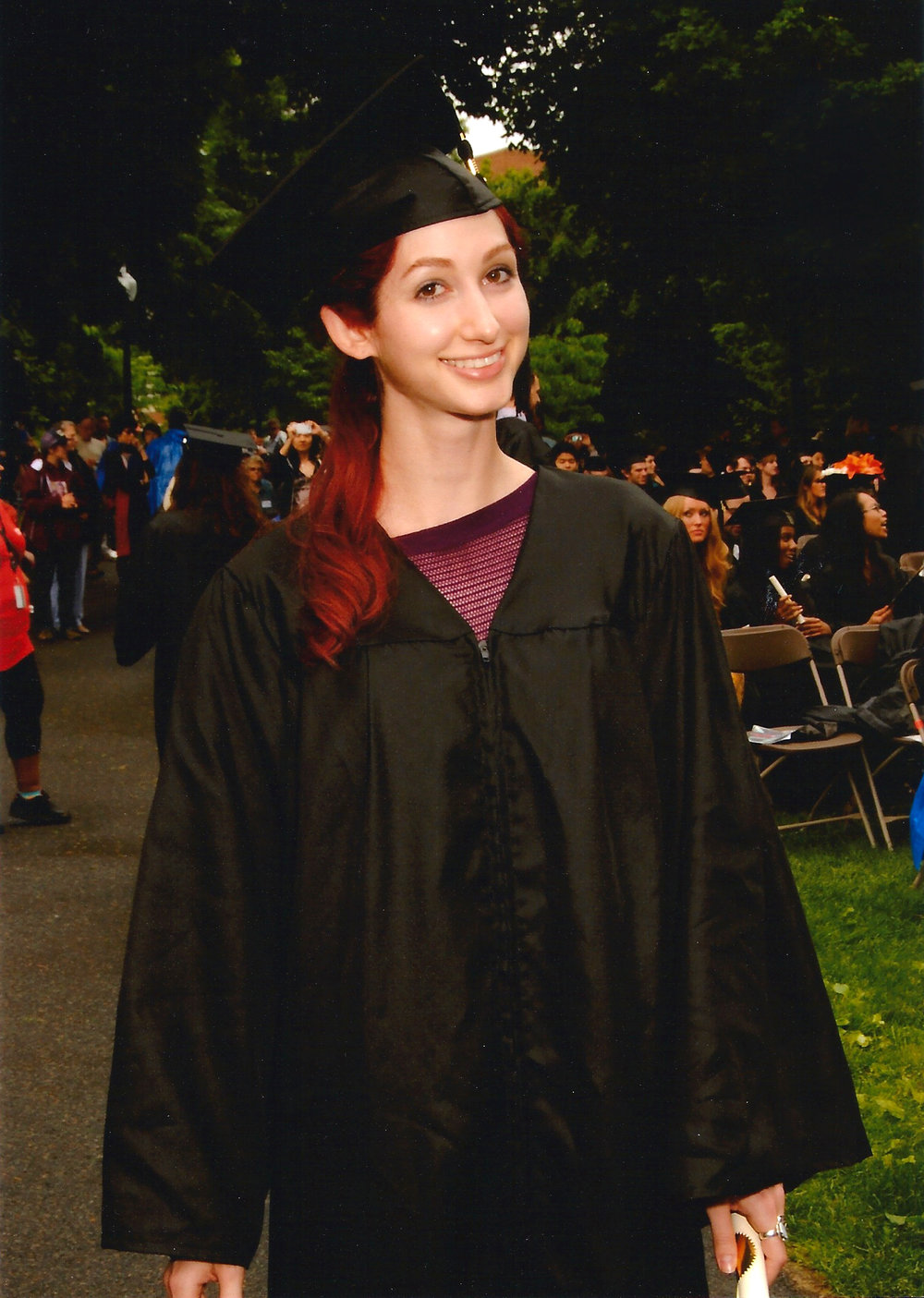 Geena Matuson (@geenamatuson) graduating from Massachusetts College of Art & Design with a BFA in Film/Video, May 2013.