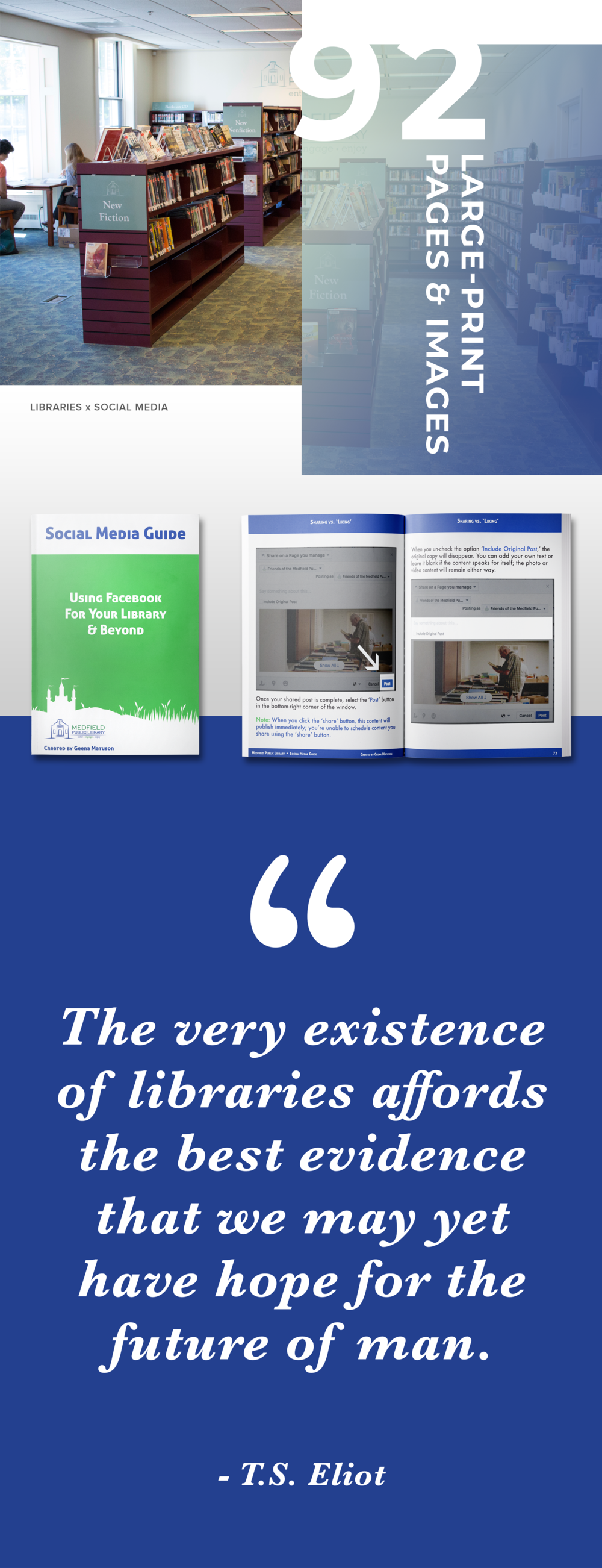 This 92-page social media guide by Geena Matuson (@geenamatuson) will talk you and your organization through the setup of a public Facebook page, teach you the basics of Facebook usability, and show you best practices. See more @ https://thegirlmirage.com.