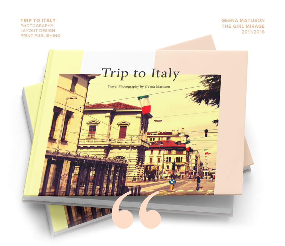"'Trip to Italy' is series and art book of travel photography by Geena Matuson (@geenamatuson) ""The Girl Mirage"" #thegirlmirage @ thegirlmirage.com."