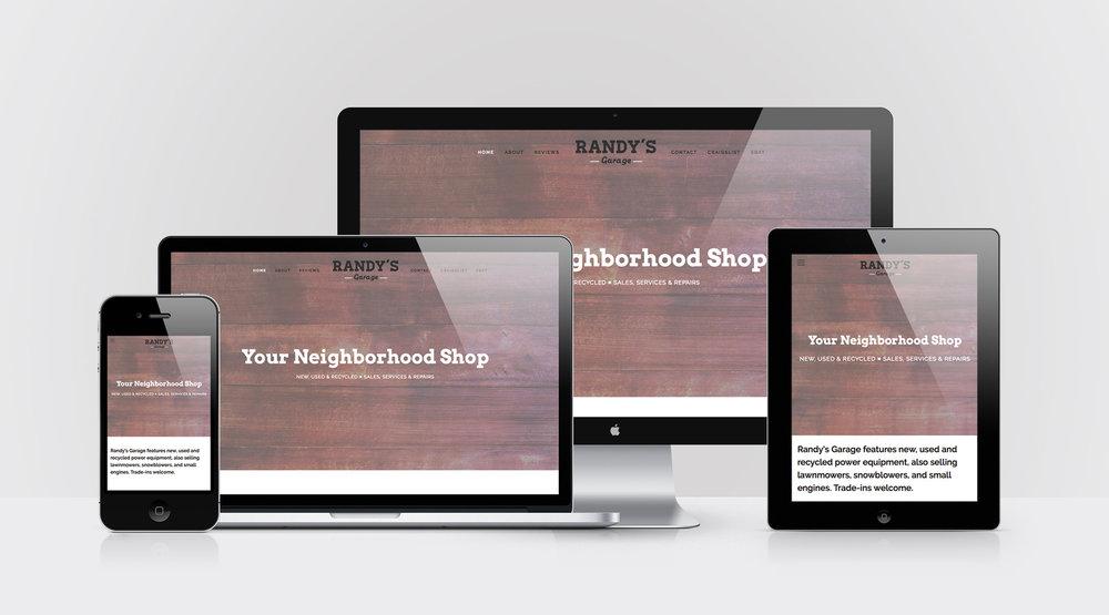 Device Mockups of Randy's Garage website design by Geena Matuson @geenamatuson #thegirlmirage