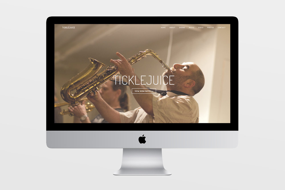 Ticklejuice - Services for jazz band TickleJuice included a new, responsive website, social media,and strategy. After completing custom branding for consistency across channels, website design included layout, custom graphics, and content creation.Media strategy and management included best practices, and uploading event videos and audio files to host sites, e.g. YouTube and iTunes.WWW.TICKLEJUICEMUSIC.COM