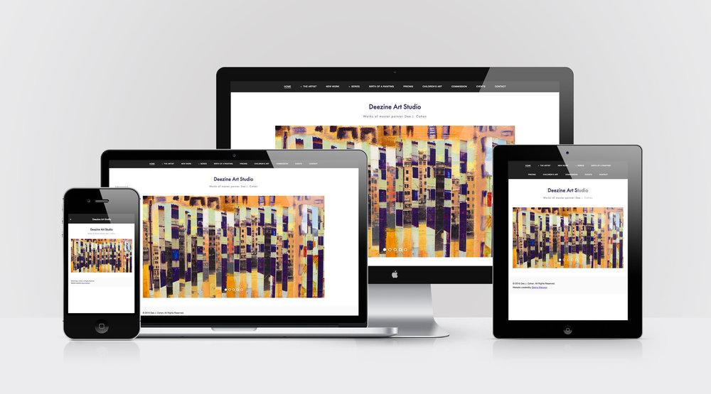 Device Mockups of Deezine Art Studio website design by Geena Matuson @geenamatuson #thegirlmirage