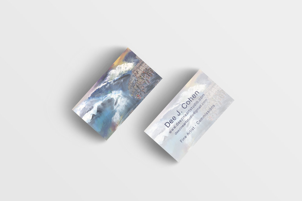 Mockups of Deezine Art Studio business card design by Geena Matuson @geenamatuson #thegirlmirage
