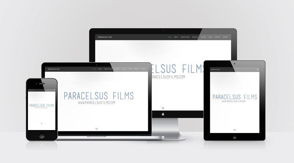 Device Mockups of Paracelsus Films website design by Geena Matuson @geenamatuson #thegirlmirage