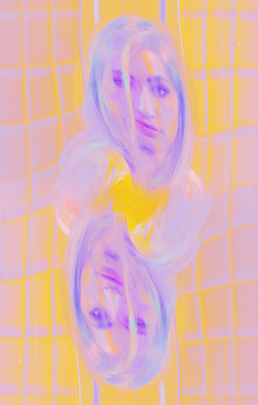 "Artwork ""Lemonhead"" part of series ""The Girl Mirage"" by Geena Matuson @geenamatuson #thegirlmirage. See more @ https://thegirlmirage.com."