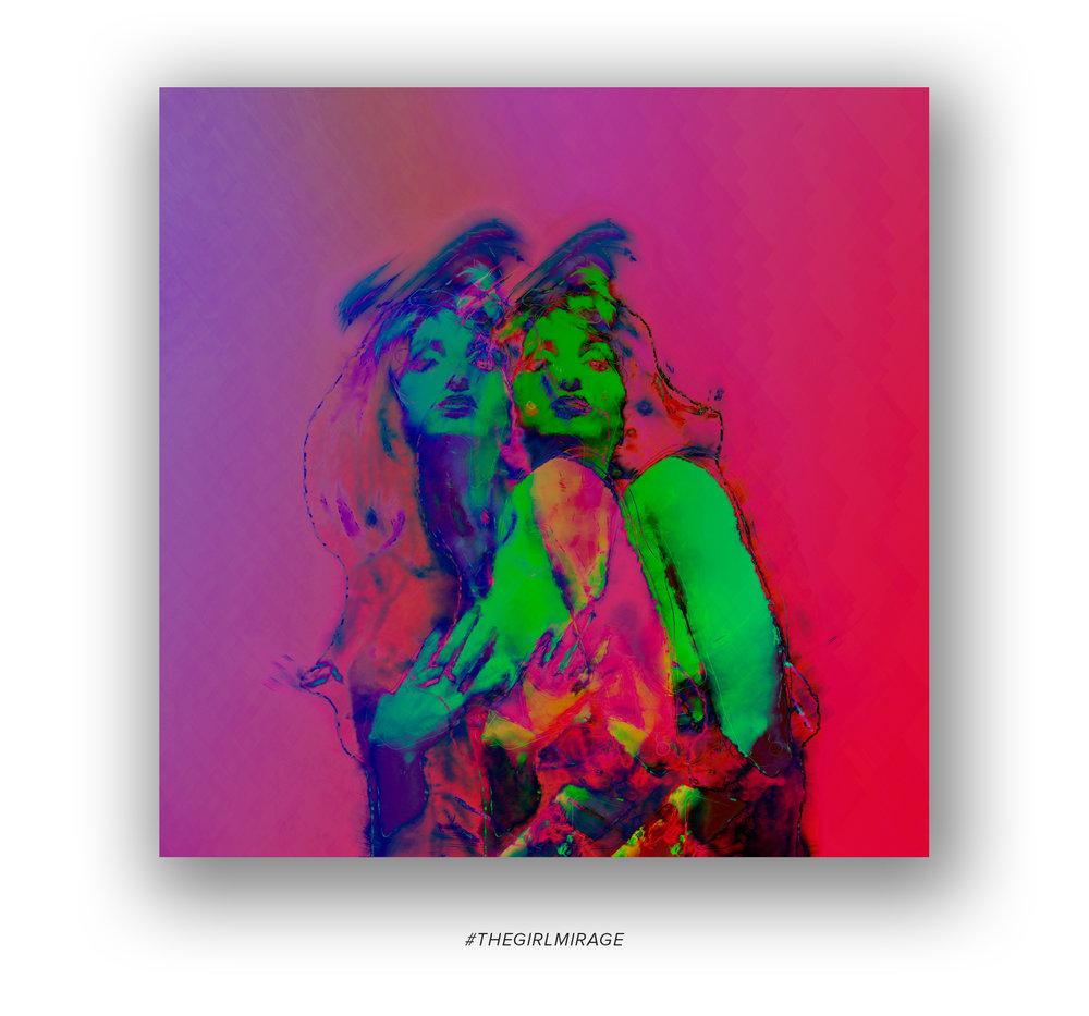 "Series of art prints ""The Girl Mirage"" by Geena Matuson @geenamatuson #thegirlmirage. See more @ https://thegirlmirage.com."