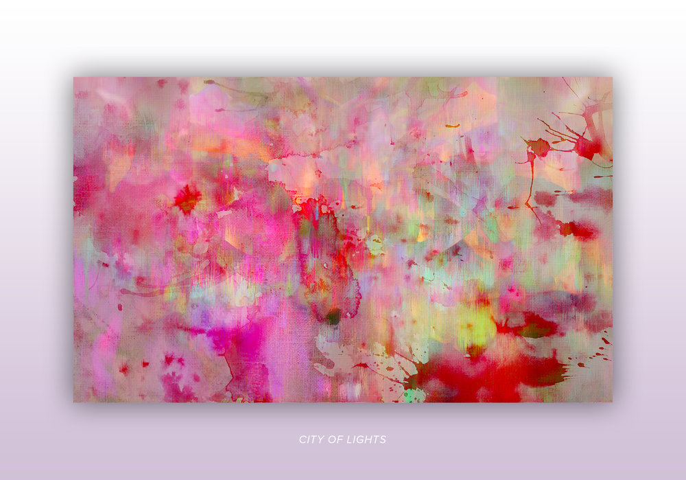 "Artwork ""City of Lights"" part of series of art prints ""Flower Daze"" by Geena Matuson @geenamatuson #thegirlmirage. See more @ https://thegirlmirage.com."