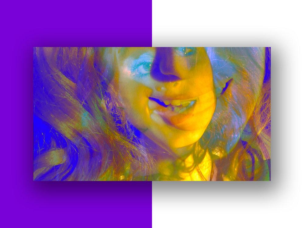 "Art print ""Linda Scott's Yellow Lake #5"" part of series ""Linda Scott"" by Geena Matuson @geenamatuson #thegirlmirage @ https://thegirlmirage.com."