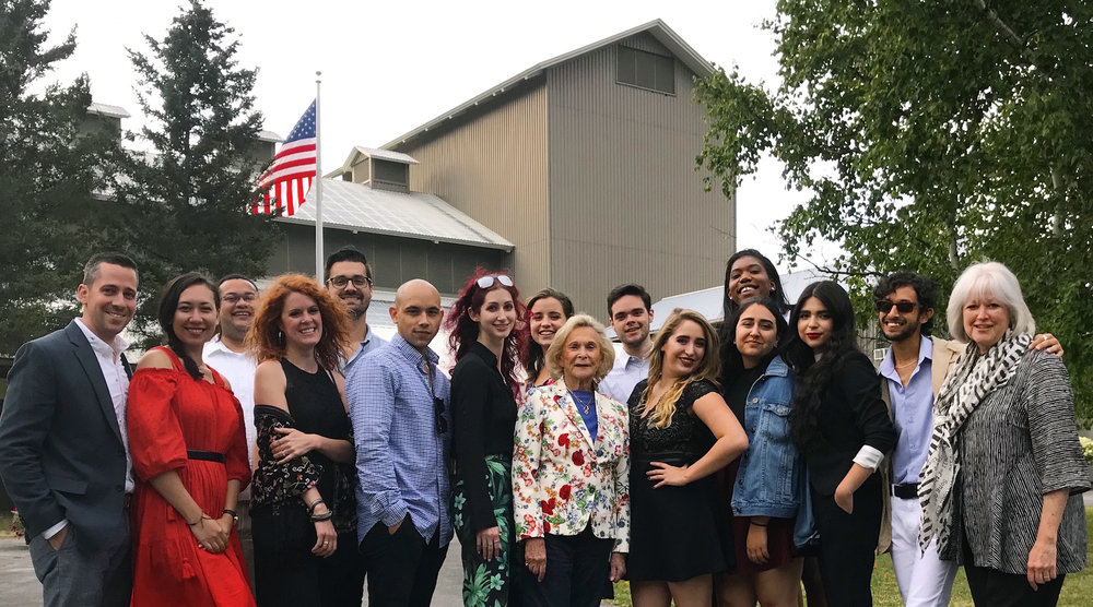 "The 2018-2019 Goldring Arts Journalism Newhouse Masters students attend Glimmerglass Opera to see ""West Side Story"" in summer, 2018."