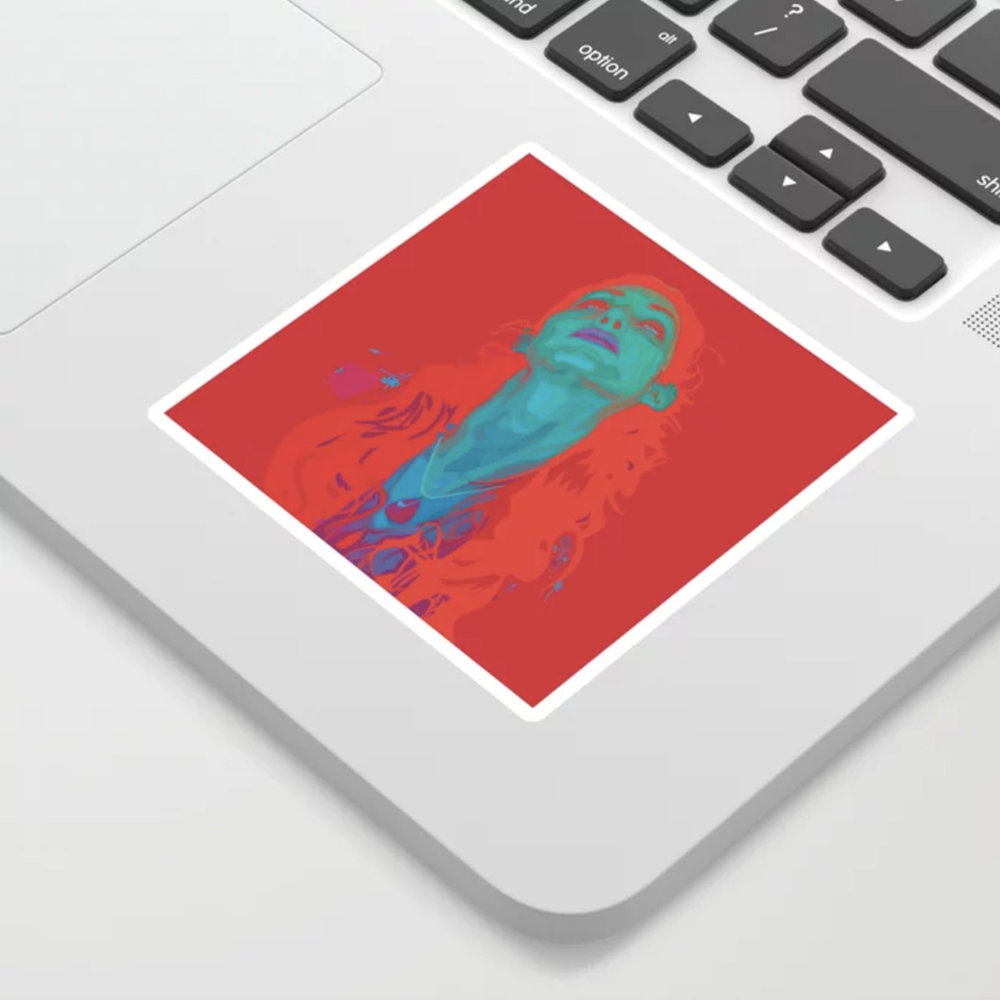 "Geena Matuson's (@geenamatuson) art ""I Sea Red"" printed on demand in her online shop @ thegirlmirage.com."