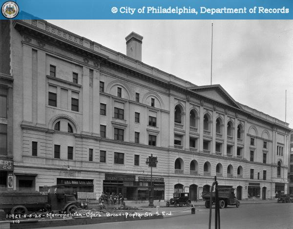 The Philadelphia Metropolitan Opera House as seen in 1925.