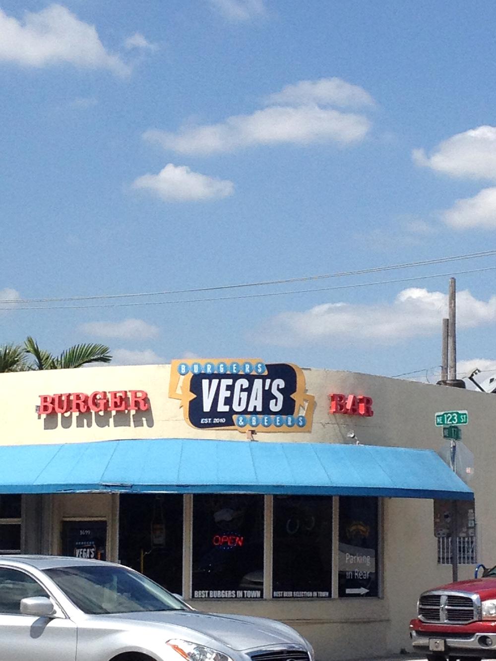 VEGA'S Burgers & Beers. Outdoor Sign