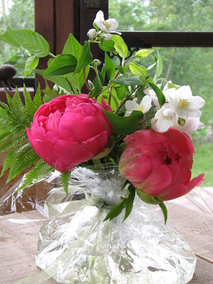 peonies make excellent cut flowers and you can create your own beautiful bouquets with only a few blossoms the flowers are so large they create a big