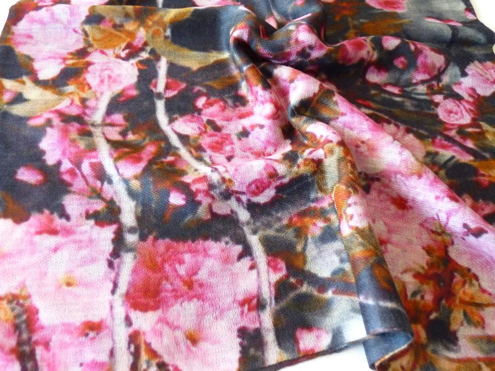 blossom print pashmina