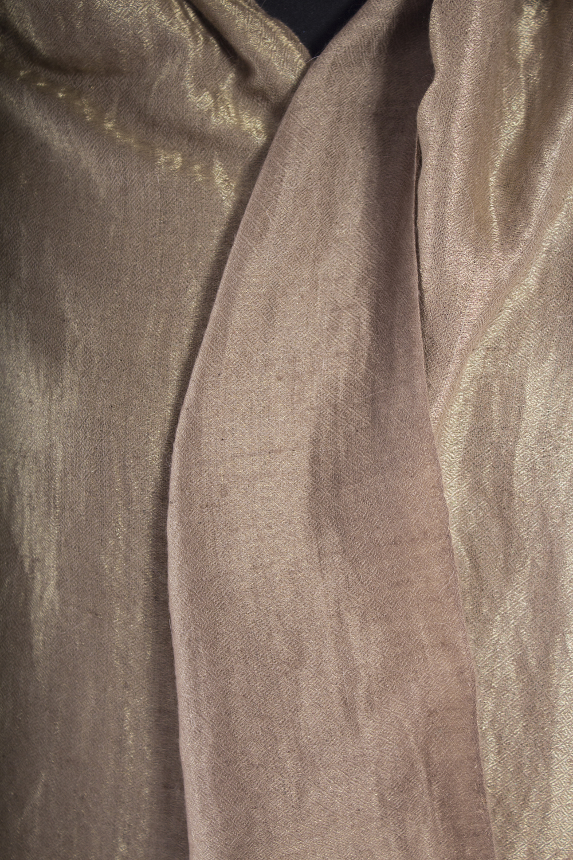 Gold Lurex Hand Woven Pashmina
