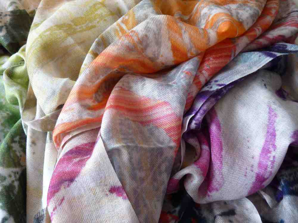 Rainbow Grunge Cashmere Wrap