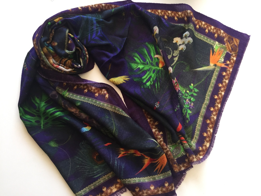 Tropical Night Cashmere Shawl Pashmala