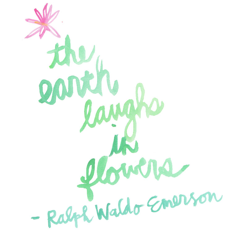 Ralph Waldo Emerson flower quote
