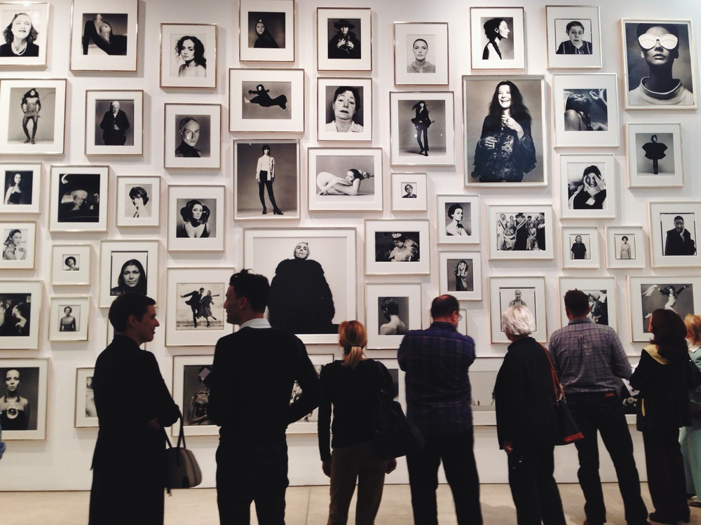 naomi yamada visits richard avedon at gagosian
