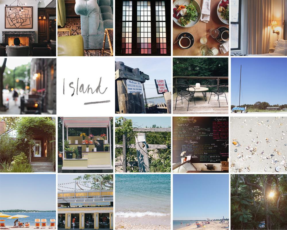 New York city and Shelter Island photo grid by Naomi Yamada