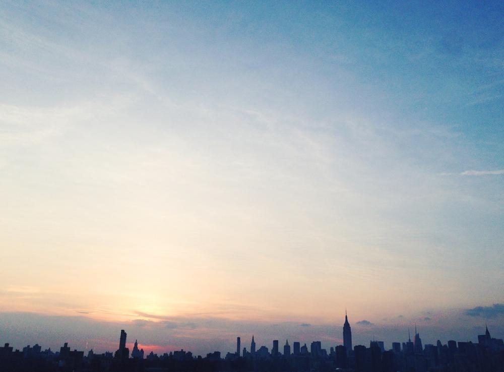 Lower Manhattan Skyline by Naomi Yamada