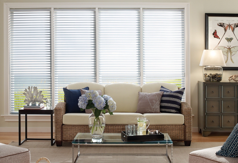 These honeycomb shades from Select Blinds allow you to open the vanes to let light in. How cool!