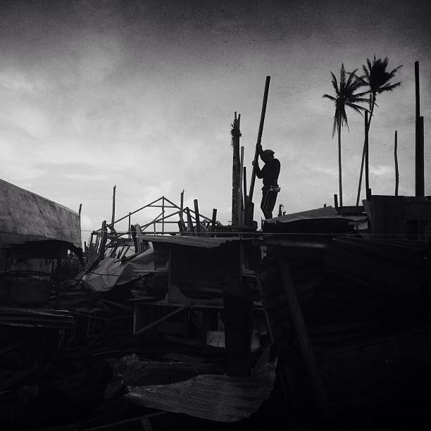 Baganga rebuilds.