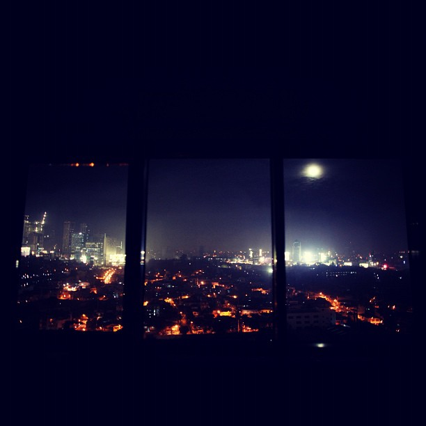 A moon that full can make any view so much better (Taken with Instagram at Adoboland)