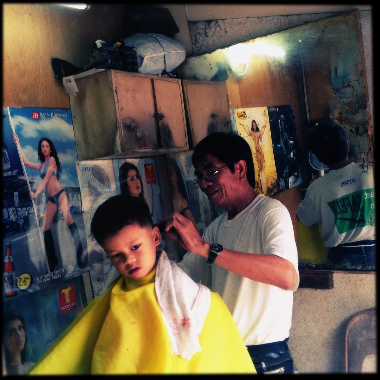 Haircut. Guadalupe, Makati