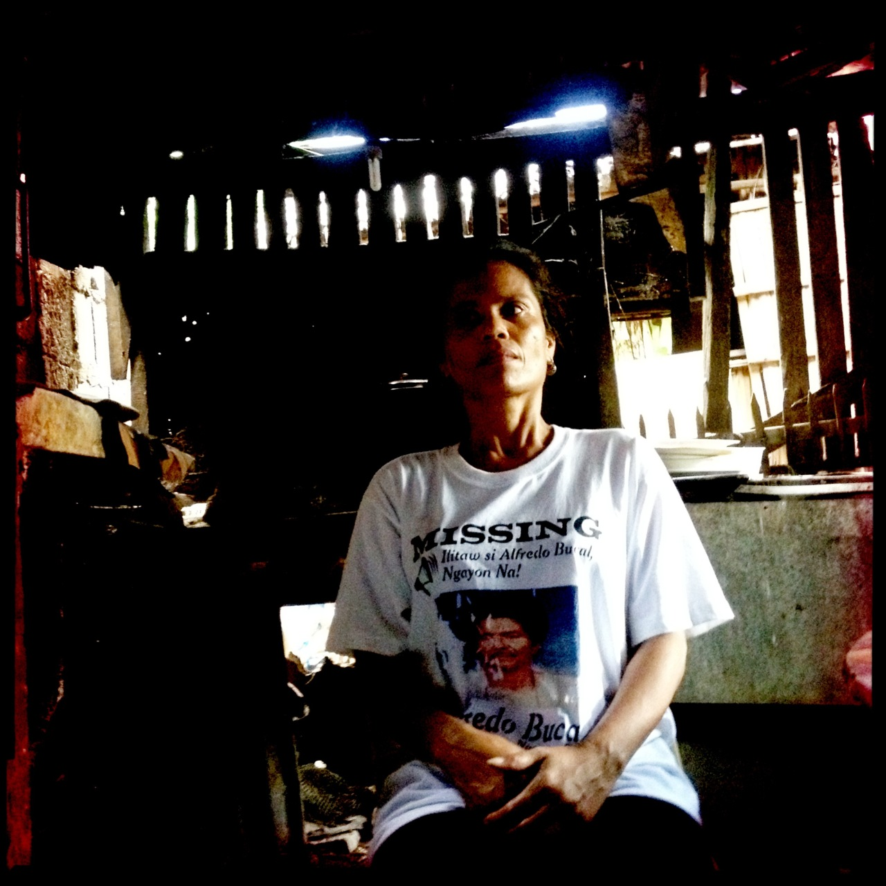 Merlita Bukal, daughter of Alfredo Bukal who was abducted on November 10, 2010 in Tuy, Batangas by unidentified men in uniform.