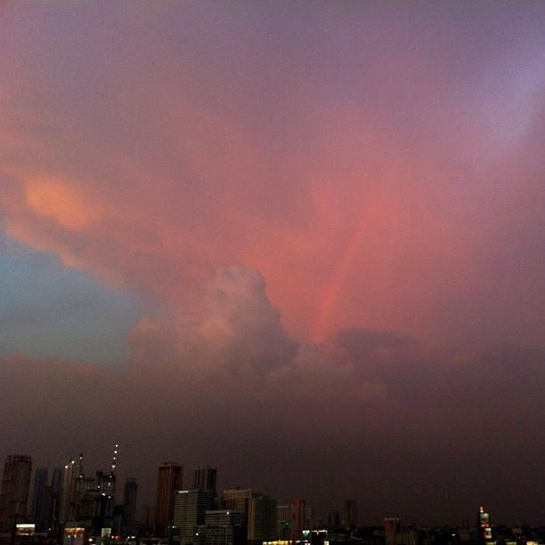 Pretty surreal rainbow earlier today. Straight outta the phone, no filters (Taken with Instagram at Adoboland)