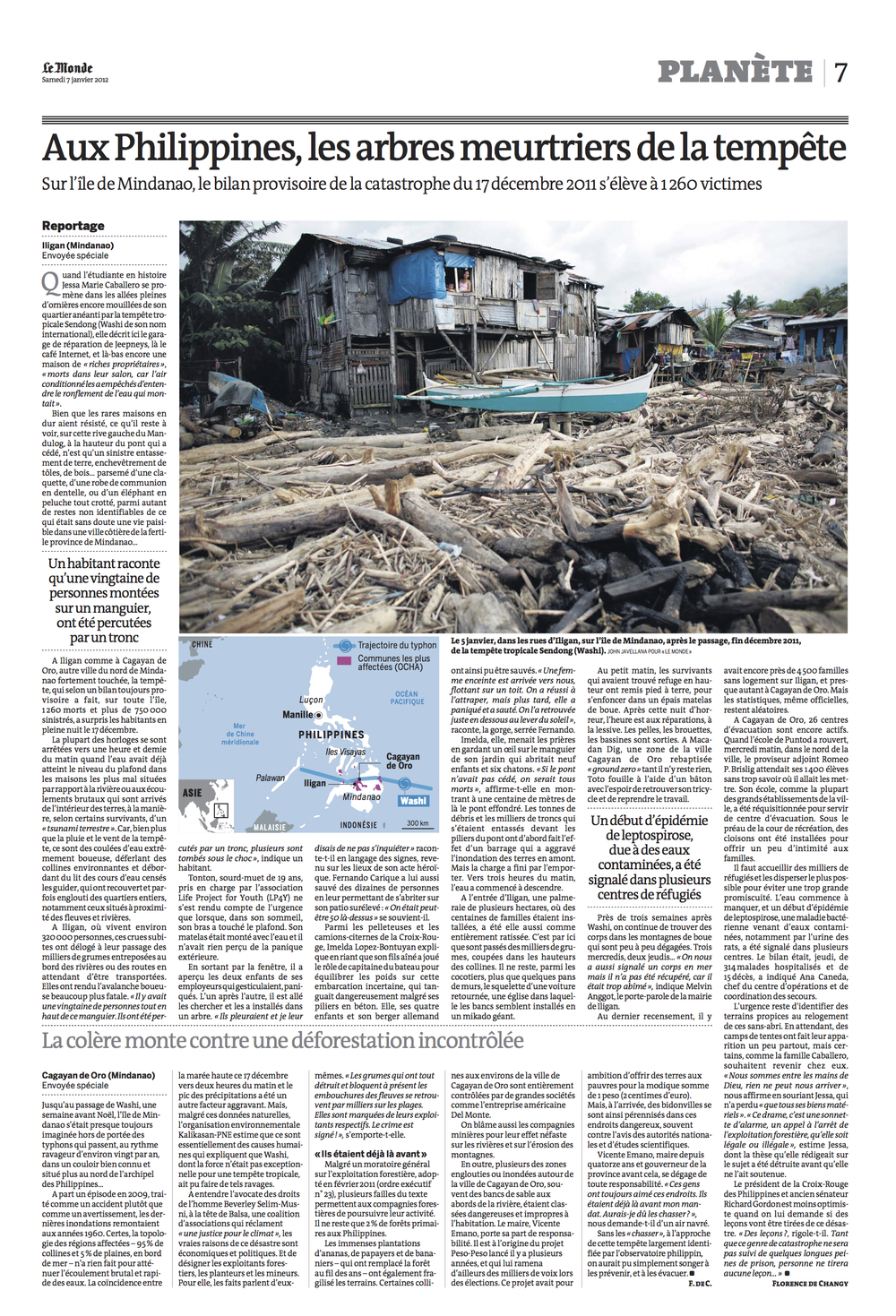 Typhoon Sendong for Le Monde