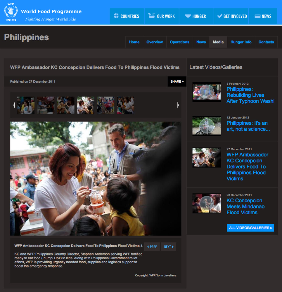United Nations World Food Programme during Typhoon Sendong