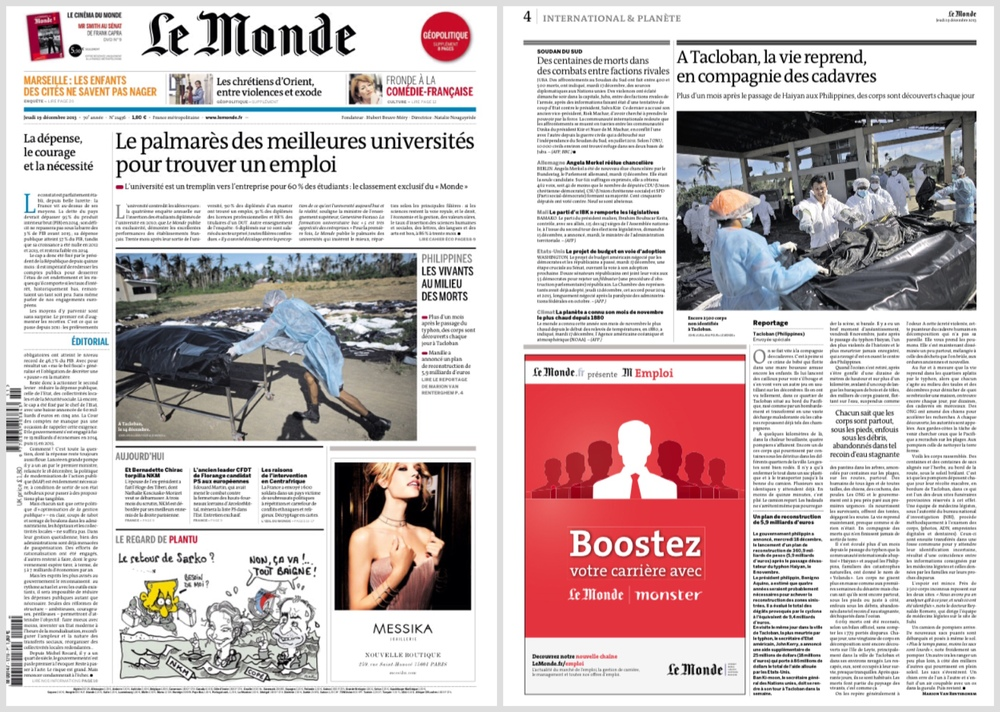 On-assignment for Le Monde