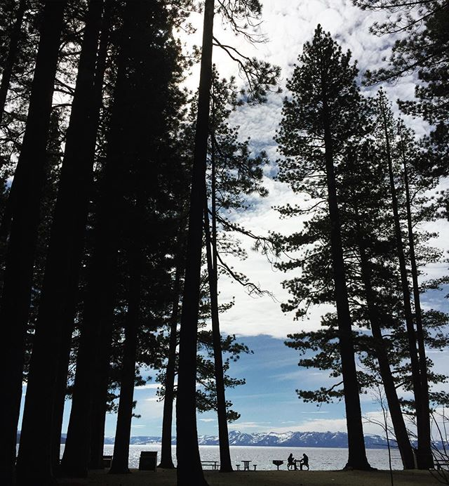 Visitors by Lake Tahoe, Nevada. #Nevada #tahoe #iPhone #Travel