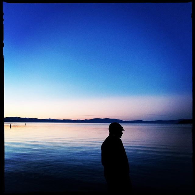Twilight at Lake Tahoe, CA. #LakeTahoe #California #EverydayEverywhere #iPhone #Hipstamatic #Travel #Twilight #Silhouette #EverydayUSA