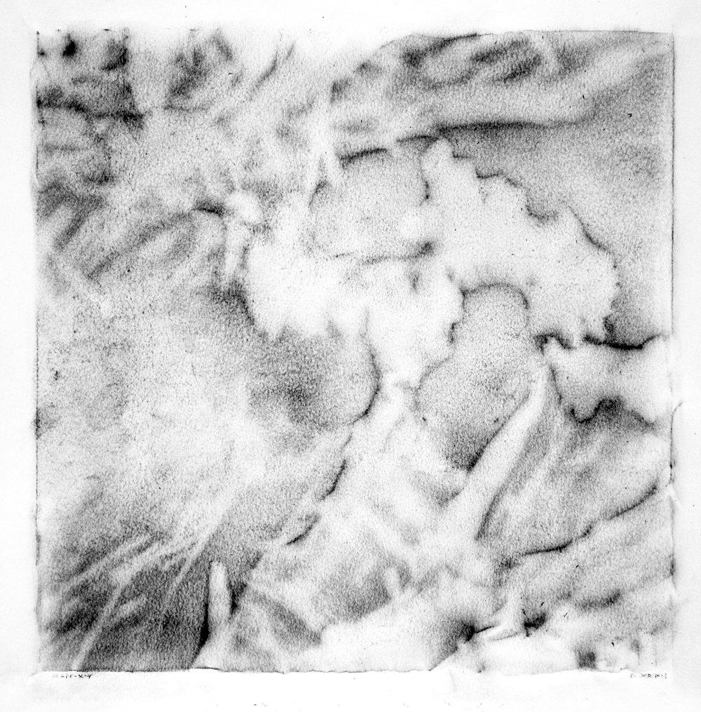 """SCAPE, X-4  12"""" X 12"""" image   19.5"""" x 25.5"""" Canson Dessin Paper"""