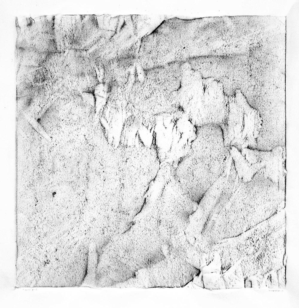 """SCAPE, X-6  12"""" X 12"""" image   19.5"""" x 25.5"""" Canson Dessin Paper"""