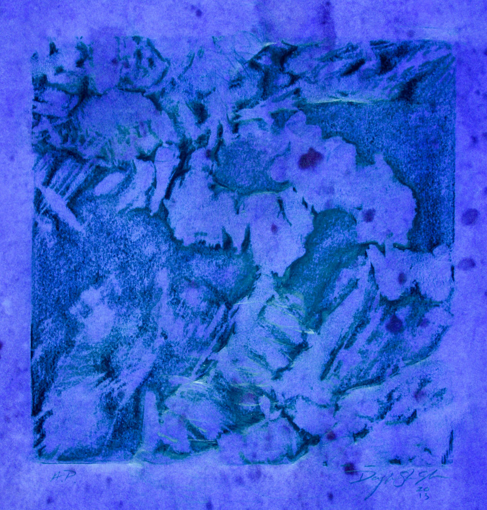 """SCAPE, A.P. -1  12"""" X 12"""" image   19.5"""" x 25.5"""" Canson Dessin Paper"""