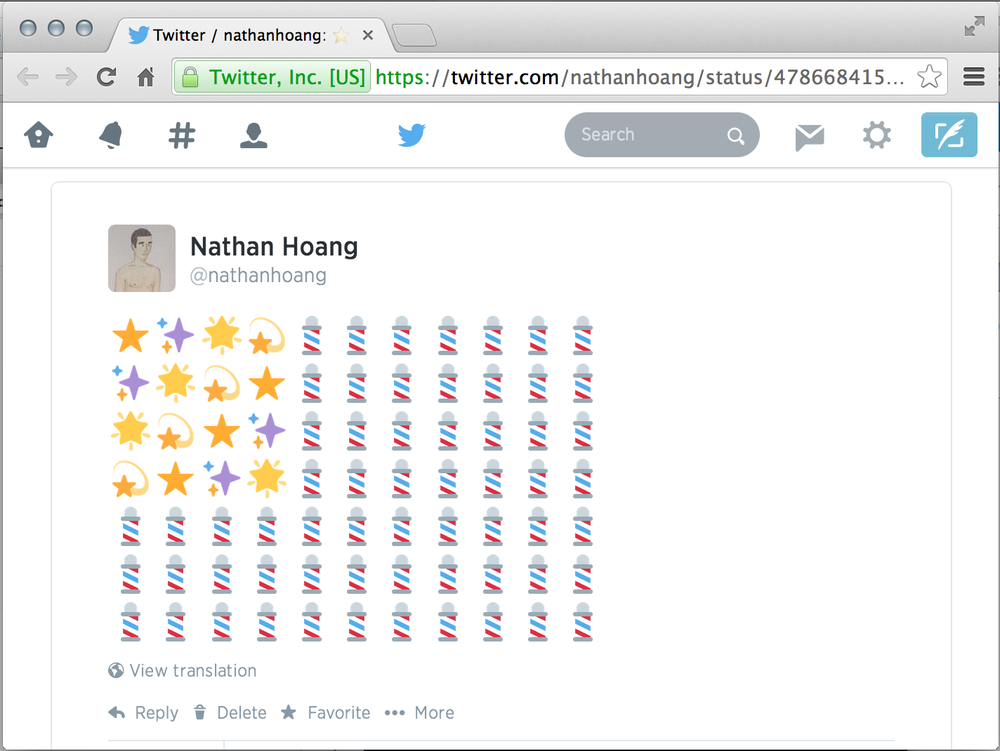 Stars and Emoji Stripes: twitter.com/nathanhoang/status/478668415402389504 Before our first match versus Ghana, June 16, 2014