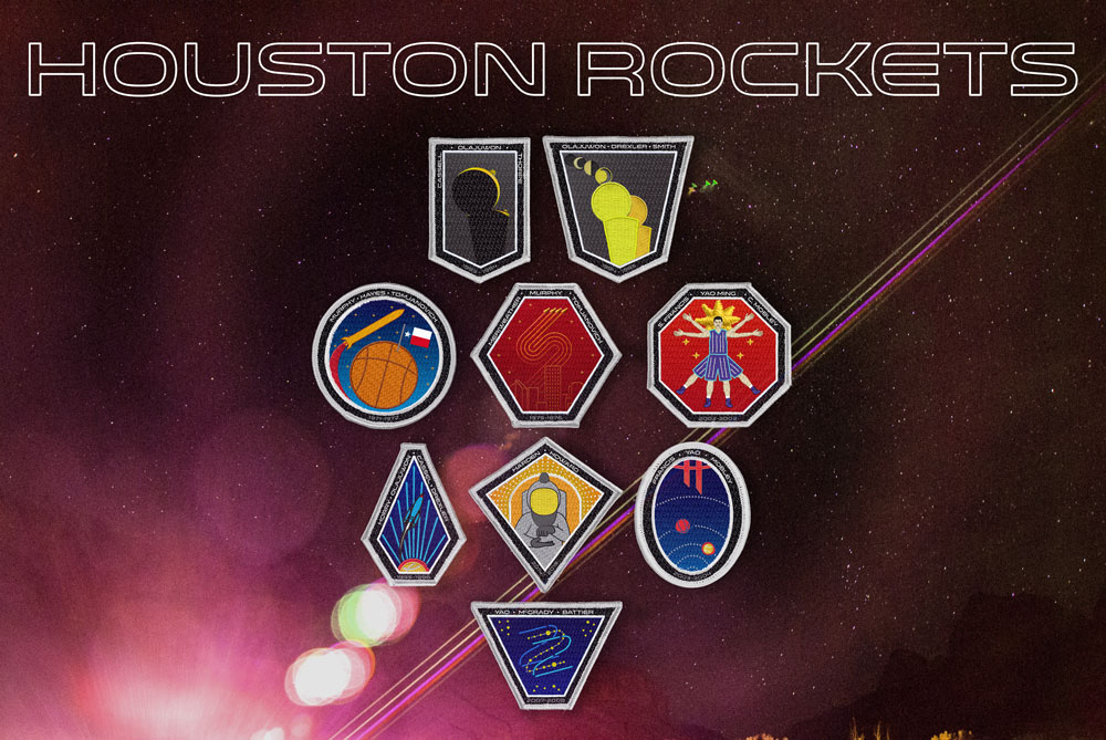 A series of patches for some notable Houston Rockets seasons through their franchise history.