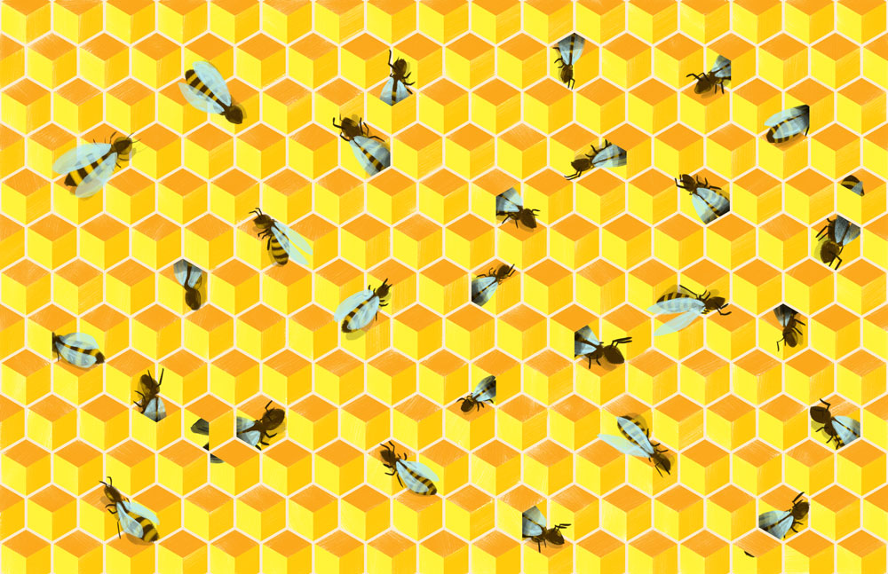 Bees , 2017. Digital Read about the process  here
