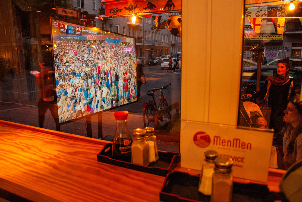People watching the World Cup in Berlin