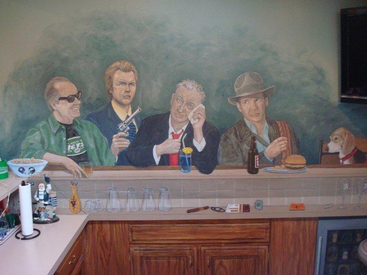 celeb bar scene mural