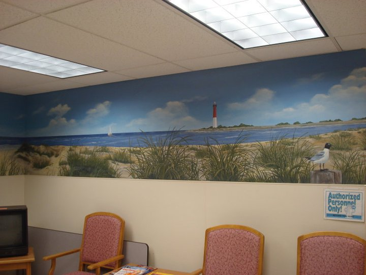 lighthouse cove panoramic mural
