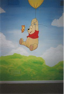 winnie the pooh kids mural