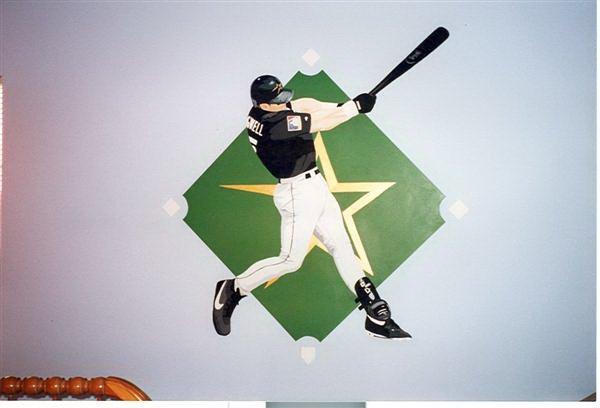 baseball kids mural